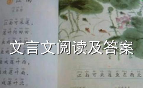 初中文言文《成衣》阅读答案